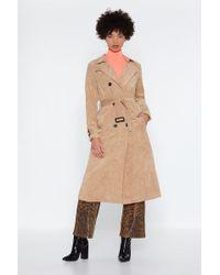 "Nasty Gal ""rain Check Corduroy Trench Coat"""