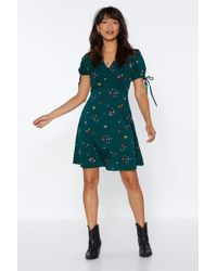 Nasty Gal - Grow It Alone Floral Dress - Lyst