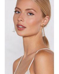 Nasty Gal - Clear As Day Earrings - Lyst