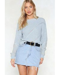 Nasty Gal - See To Knit Relaxed Sweater - Lyst