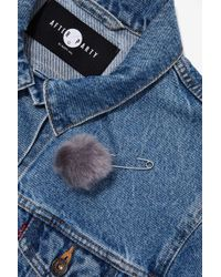 Nasty Gal - Kieran Faux Fur Safety Pin Brooch - Lyst