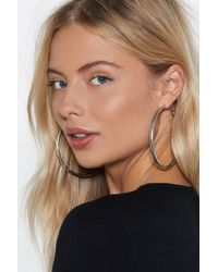 Nasty Gal - Thick All Boxes Hoop Earrings - Lyst