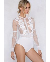 Nasty Gal - I'll See To It Floral Bodysuit - Lyst