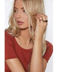 """Nasty Gal - """"king Of The Jungle 3-pc Ring Set"""" - Lyst"""
