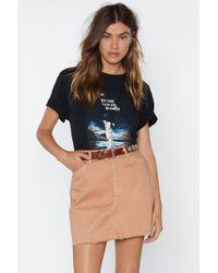 572825be32 Lyst - Nasty Gal Knock Hem Dead Denim Skirt in Blue