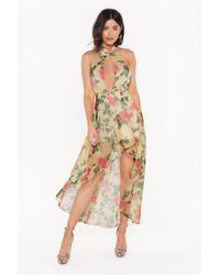 "Nasty Gal ""you Grow Girl Floral Midi Dress"" - Multicolor"