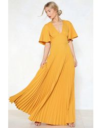 Nasty Gal | Pleat It Hun Maxi Dress | Lyst