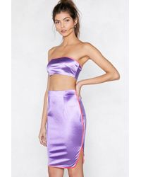 Nasty Gal - Sporting A Winner Bandeau Top And Skirt Set - Lyst