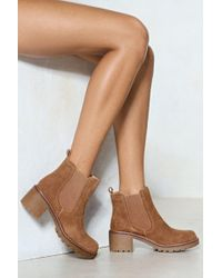 Nasty Gal - Waitin' On Being Suede Boot - Lyst