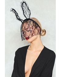 Nasty Gal - We Don't Find It Bunny Veil Ears - Lyst