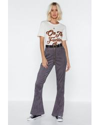 Nasty Gal - Zip The Scales Cord Trousers - Lyst
