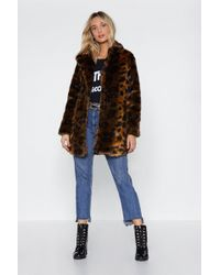 Nasty Gal - Faux Fur-get The Past Leopard Coat - Lyst