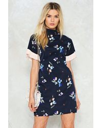 Nasty Gal - Pleat Don't Grow Floral Dress - Lyst