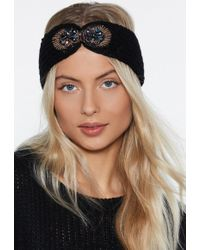 Nasty Gal - Thin Ice Knit Headband - Lyst