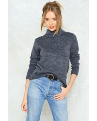 Nasty Gal - Take Knit Easy High Neck Sweater Take Knit Easy High Neck Sweater - Lyst