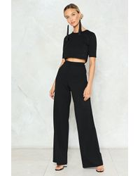 Nasty Gal - Crop & Wide Leg Pant Co-ord Crop & Wide Leg Pant Co-ord - Lyst