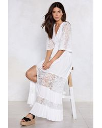 Nasty Gal - Sky Full Of Song Maxi Dress - Lyst