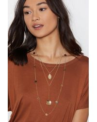 Nasty Gal - Sovereign Coin Layered Necklace - Lyst