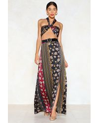 Nasty Gal - Get Your Mix Printed Bralette And Skirt Set - Lyst