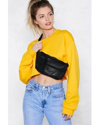 Nasty Gal - Bag It Leather Fanny Pack - Lyst