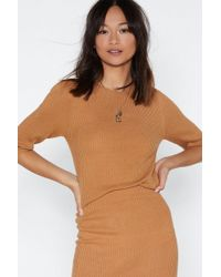 Nasty Gal - All For Knit Ribbed Sweater - Lyst