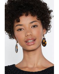 Nasty Gal - To Shell With That Tortoiseshell Earrings - Lyst
