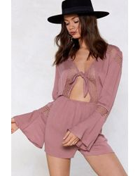 Nasty Gal - Tomorrow Is Another Day Lace Romper - Lyst