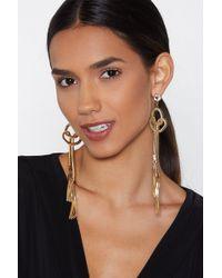 Nasty Gal - Knot Over It Tassel Earrings - Lyst