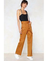 Nasty Gal   Bag Along High-waisted Pants   Lyst
