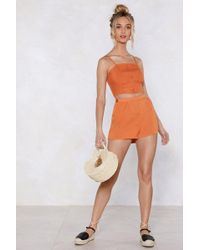 Nasty Gal - Back To Back High-waisted Shorts - Lyst