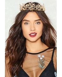 Nasty Gal | Queen For A Day Diamante Crown | Lyst