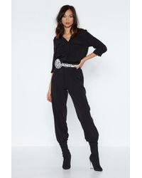 e8359c5b4b6 Lyst - Nasty Gal Jayla Overall Jumpsuit in Black