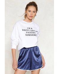 Nasty Gal   Ray Of Fucking Sunshine Graphic Sweatshirt   Lyst