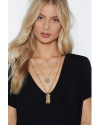 Nasty Gal - Glisten Up Layered Necklace - Lyst