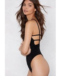Nasty Gal - All's Square Bodysuit - Lyst