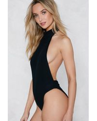 Nasty Gal - Back-up Plan Ribbed Bodysuit - Lyst