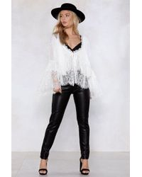 Nasty Gal - Give Me The Night Faux Leather Trousers - Lyst