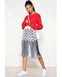 Nasty Gal | Do You Fold Pleated Skirt | Lyst