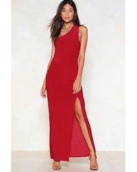 Nasty Gal - The Perfect Slit Maxi Dress - Lyst