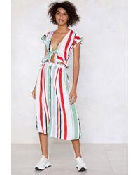 Nasty Gal - Stripe Down To It Midi Skirt - Lyst