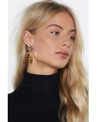 """Nasty Gal - """"you're Going Down Hammered Earrings"""" - Lyst"""