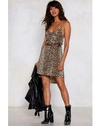Nasty Gal - Wild Heart Leopard Dress - Lyst