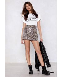 Nasty Gal - Put Your Claws Away Leopard Skirt - Lyst