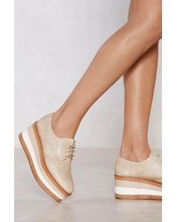 Nasty Gal - Roll With The Punches Platform Brogue - Lyst
