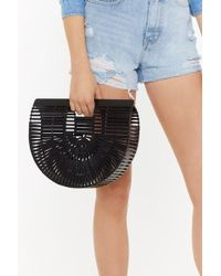 "Nasty Gal - ""want Just Hold On Wooden Clutch Bag"" - Lyst"