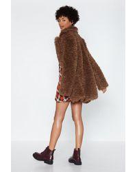 Nasty Gal - Can You Feel It Faux Fur Coat - Lyst