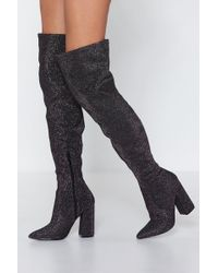 27bb2f39336 Nasty Gal - The Final Stretch Over-the-knee Boot - Lyst