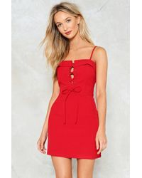 Nasty Gal - Tie Candy Mini Dress - Lyst