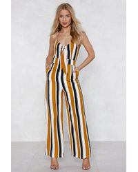 Nasty Gal - If The Stripe Is Right Jumpsuit - Lyst