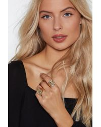 """Nasty Gal - """"crinkle In Time 3-pc Ring Set"""" - Lyst"""